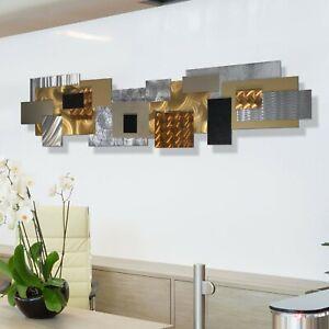 Statements2000-Large-3D-Metal-Wall-Sculpture-Modern-Gold-Silver-Decor-Jon-Allen