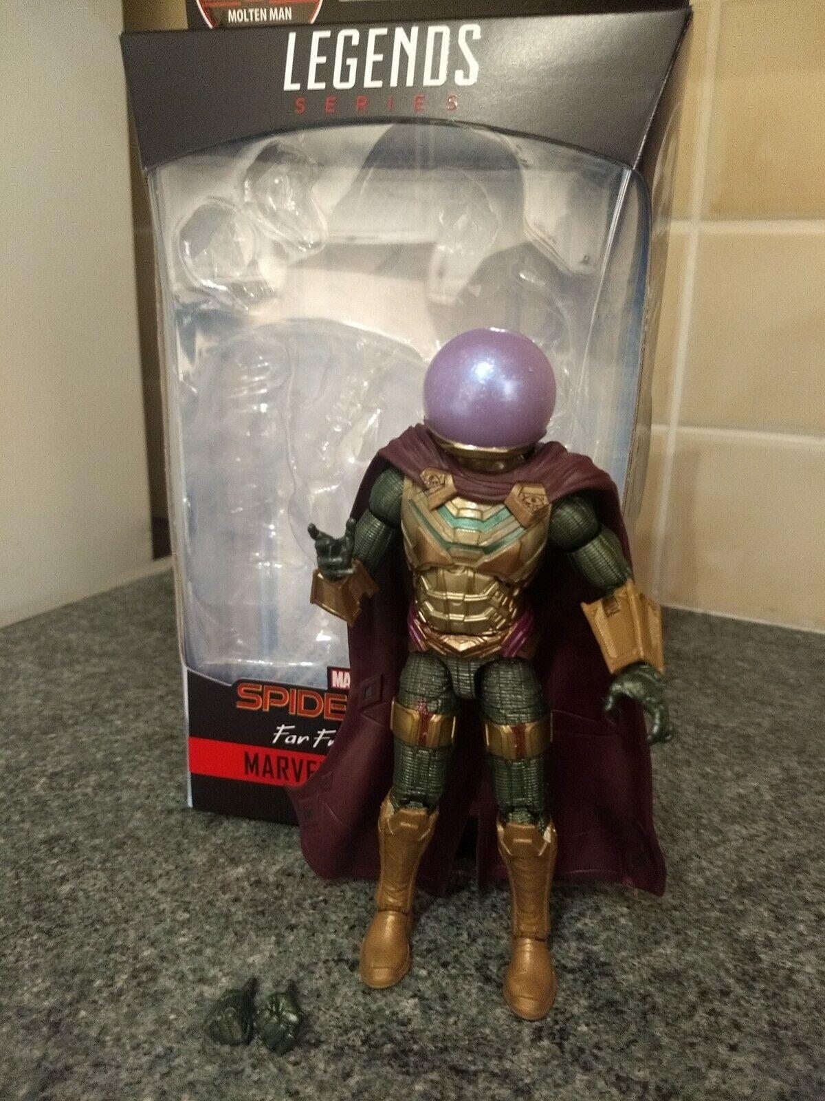 Marvel legends MCU Mysterio Action figure  molten man baf wave complete rare