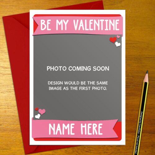 love valentine/'s day anniversary kitty kitten CAT Personalised Romantic Card