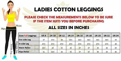 Gewissenhaft Adult Women Full Length Cotton Leggings Ladies New Style Leggings All Sizes