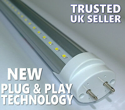 T8 LED Tube Light Fluorescent replacement 2ft 4ft 5ft 60cm 120cm 150cm plugNplay