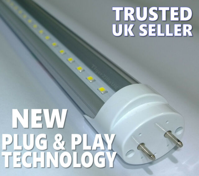 T8 LED Tube Light Fluorescent replacement 2ft 4ft 5ft 60cm 120cm 150cm plugNplay
