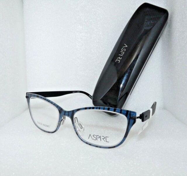 Aspire Poetic 52-17-140 Brown Leopard Glasses Frames Metal ...