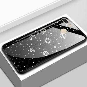 For-Huawei-Honor-9-Lite-Luxury-Space-Tempered-Glass-Hybrid-Shockproof-Case-Cover