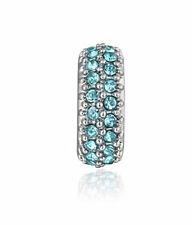 hot European Silver CZ Charm Beads Fit sterling 925 Necklace Bracelet Chain uN8