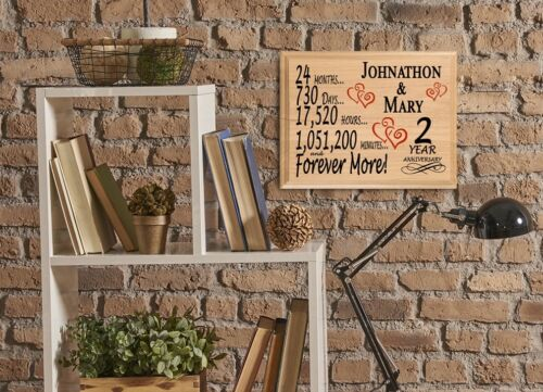 2nd Anniversary Gift PERSONALIZED SUPER FAST 2 Year Her Him Couple Husband Wife
