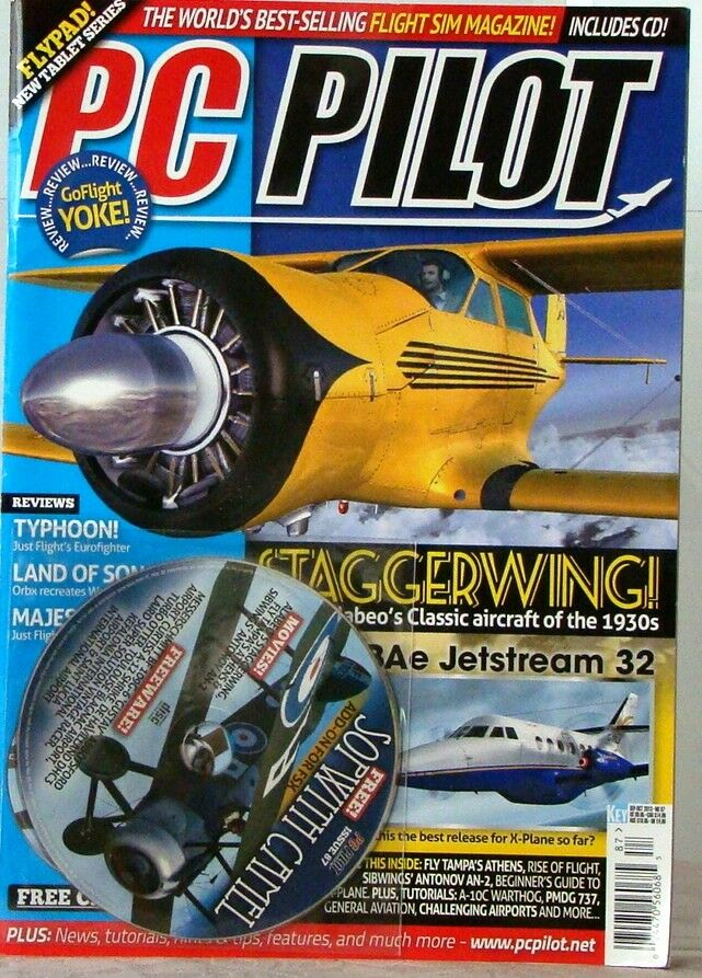 PC Pilot Worlds Best- Flight SIM Magazine FlyPAD Includes CD 2013