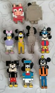 8-Bit-Characters-2019-Hidden-Mickey-Set-Pixel-DLR-WDW-Choose-a-Disney-Pin