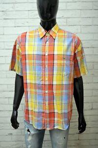 LACOSTE-Uomo-Camicia-Manica-Corta-Camicetta-Taglia-2XL-Maglia-Shirt-Man-Hemd