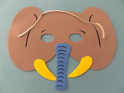 1 Maske f. Kindergeburtstag Karneval Fasching Tier Tiere Masken Moosgummi neu