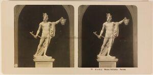 Italia Roma Museo Vaticano Perseo c1905 Foto Stereo Vintage Analogica