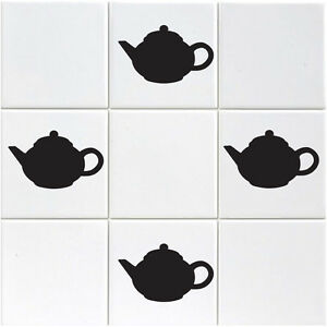 18 x Teapot Tile Stickers - Pack of 18 Teapot Stickers