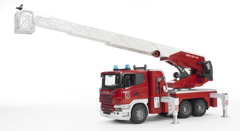 BRUDER 3590 Scania R-Series autopompa Pompieri con luci e suono