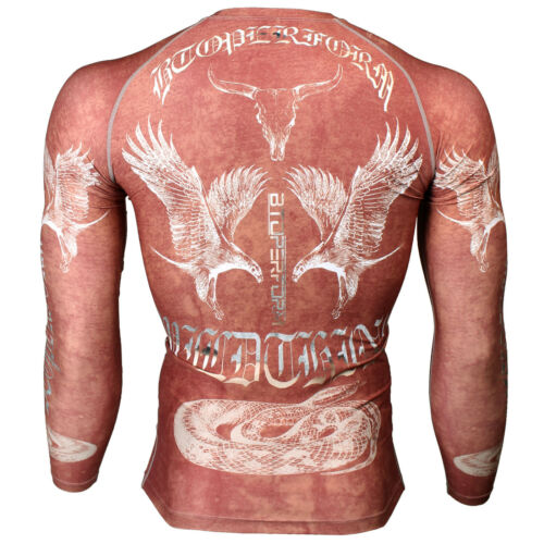 FX-127R BTOPERFORM MMA Rash guard Skin Tight Compression Under Base layer Gym