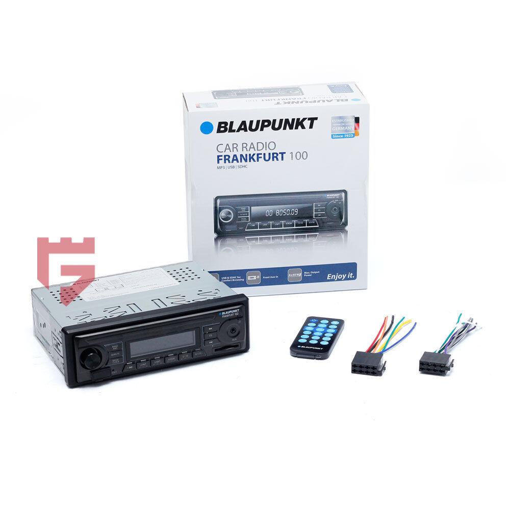 BLAUPUNKT Hamburg 100 1 DIN USB AUX MP3 SDHC Car Radio CD Player 4 x 40W Built-in Amplifier Stereo Receiver Headunit