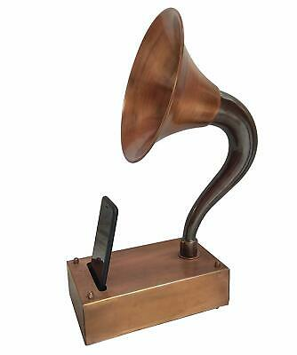 Antique Gramophone for I Phone Mobile Non Electric Acoustic Music Speaker Metal