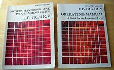 USED  OWNER'S MANUALS FOR HP41C & HP41CV CALCULATORS