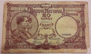 20-Francs-1945-Belgique-20-Frank-Belgie-1945-Banknote-Belgium