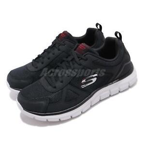 Skechers-Track-Scloric-Wide-Black-Red-Men-Running-Shoes-Sneakers-52631W-BKRD