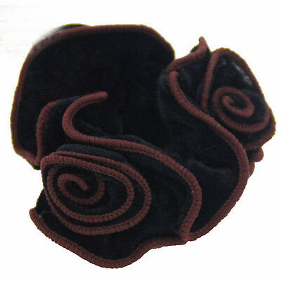 Flower Accessories For Women Scrunchies Hair Rope Hair Ring Elastic Velvet