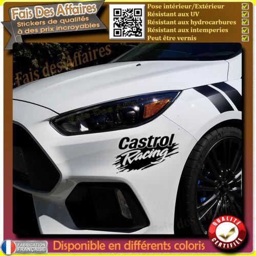 sticker autocollant castrol racing sponsor tuning auto moto