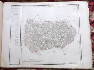 Dept-54-Carte-Originale-de-1790-1818-Gravure-sur-Cuivre-Aquarellee-73-x-56-cm