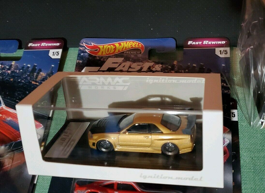 Ignition Model 1 64 Tarmac Works Exclusive NISSAN Nismo R34 GT-R GTR Z-tune Gold