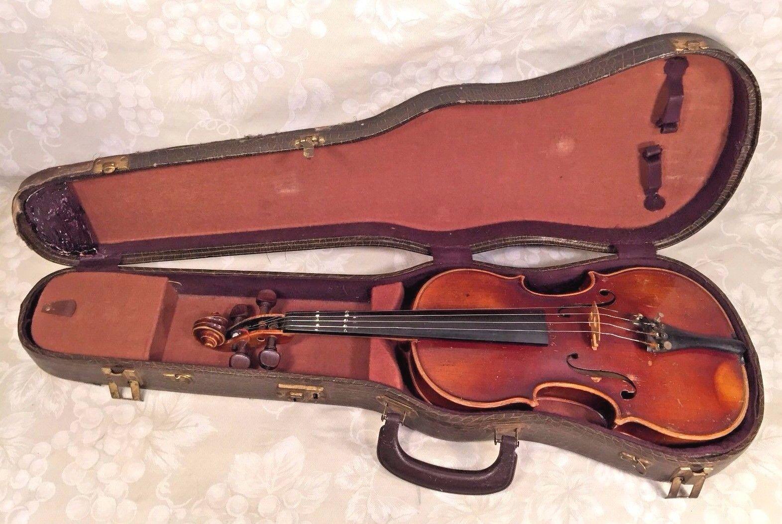 Vintage e r pfretzschner violín con estuche estuche estuche duro 1975 Modelo Antonius Stradivarius cc00f0
