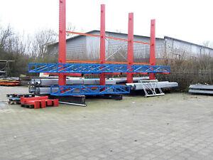 Kragarmregal Langgutregal Doppelseitig Ständer Höhe 5.200 mm Kragarmlast: 800 kg