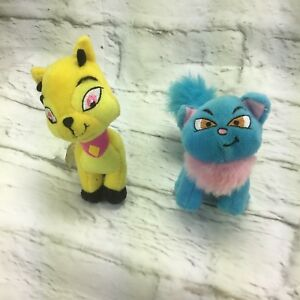 Neopets 2004 Happy Meal Toys Yellow Blue Stuffed Cat Plush