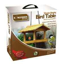 HANGING WOODEN BIRD TABLE GARDEN WILD BIRDS TREE OR BRACKET HANG FEEDING STATION