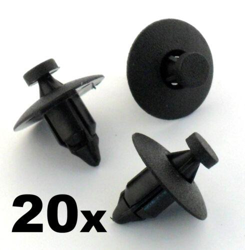 20x VOLVO rivet fastener clips en plastique-Pour Pare-chocs Panneaux Garniture, façades doublure