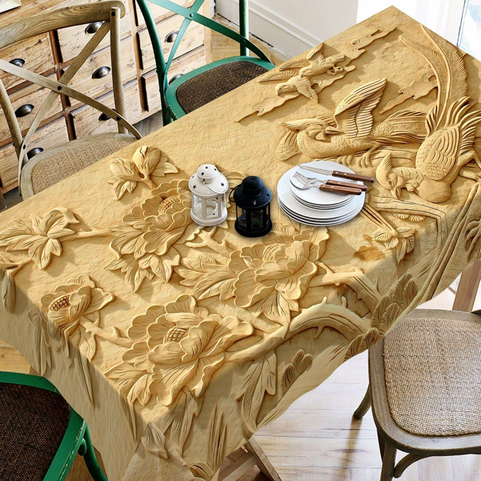 3D Carve 4396 Tablecloth Table Cover Cloth Birthday Party Event AJ WALLPAPER AU