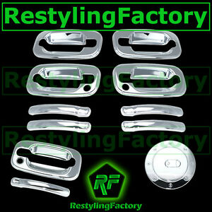Chevy-Tahoe-Suburban-Chrome-4-Door-handle-PSG-Keyhole-Tailgate-Barn-Gas-Cover