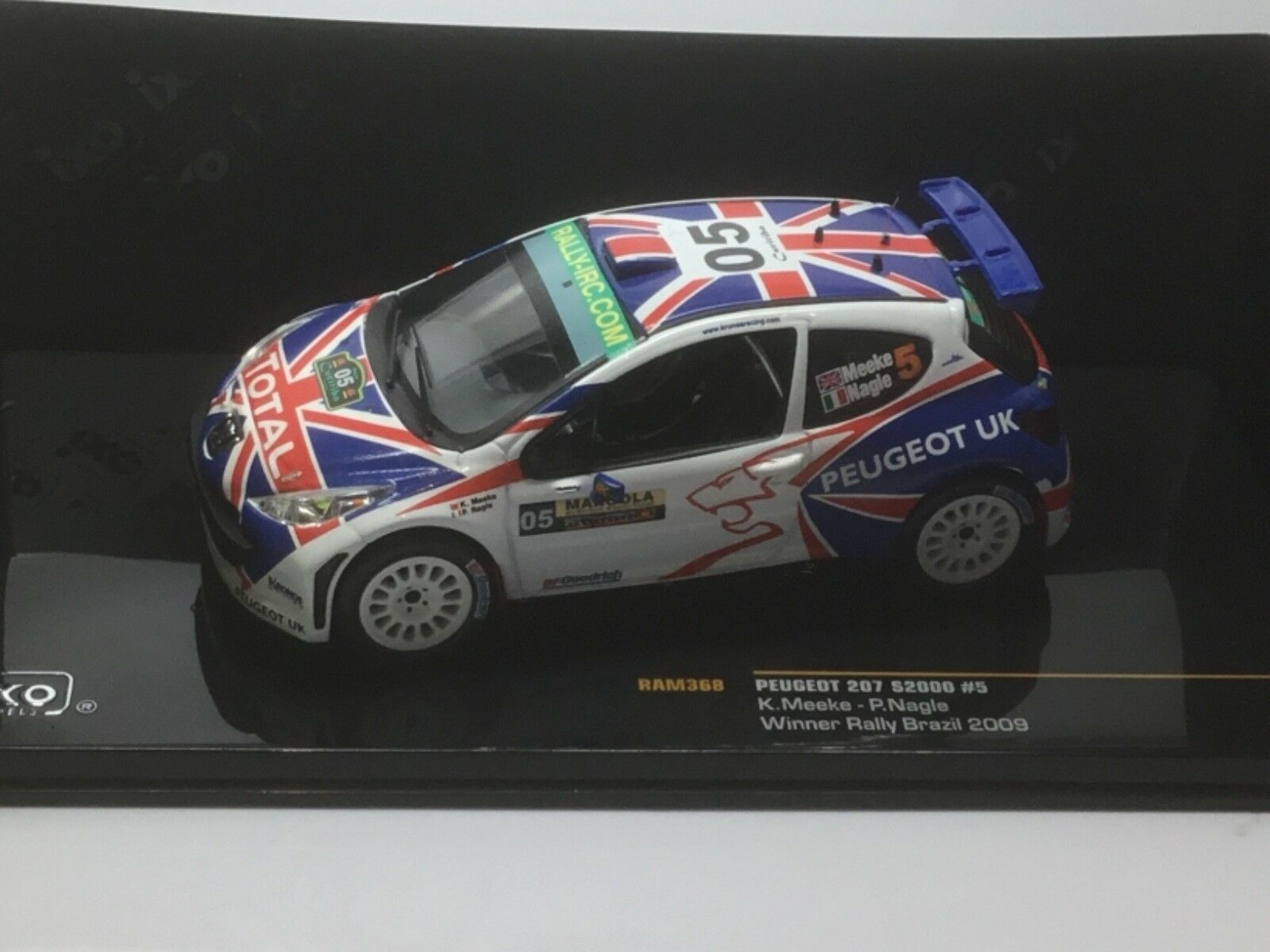 Ixo Peugeot 207 S2000 Winner Brazil 2009 K.Meeke RAM368 1 43