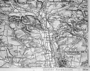 Nordhausen Karte.Details Zu 361 Nordhausen Karte Des Deutschen Reiches 1 100 000 Gedruckt 1899