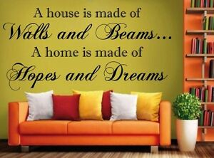 Hopes-amp-Dreams-House-inspirational-wall-art-quote-Sticker-6-sizes-many-colours