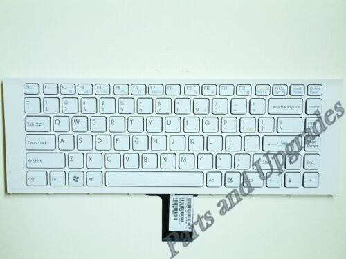 OEM Sony Vaio VPCEG23FX VPCEG23FX//P VPCEG23FX//W Keyboard White With Frame NEW