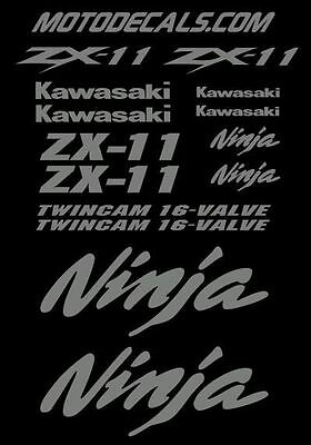 Graphics Sticker Decal Kit for ZX11 Ninja 1100 Upper Tank Fairing Fender Emblem