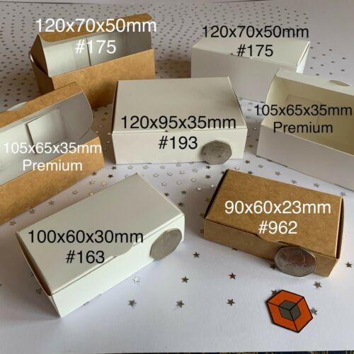 Gold or Silver  PERFECT Size120x95x35mm Wedding Party Cake Slice Favour Boxes