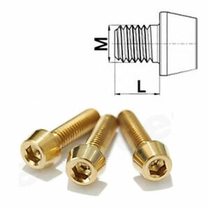 Titanschraube-M5-x-8-75-konisch-DIN-912-Grade-5-Gold