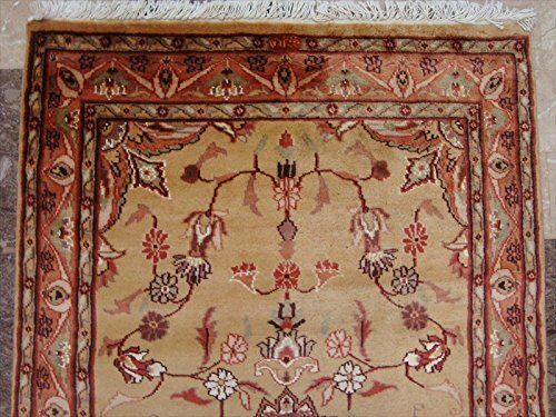 New New New Rectangle Area Awesome Medallion Wool Silk Hand Knotted Rug Carpet (5 x 3)' c71e6b