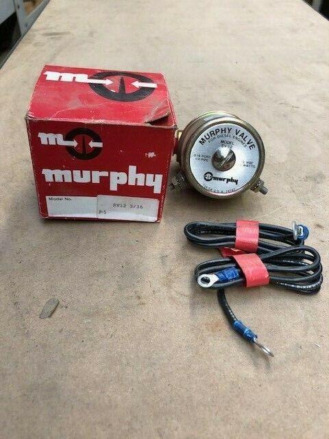 Murphy Sv-12 12vdc 10watts Diesel Engine Valve for sale online