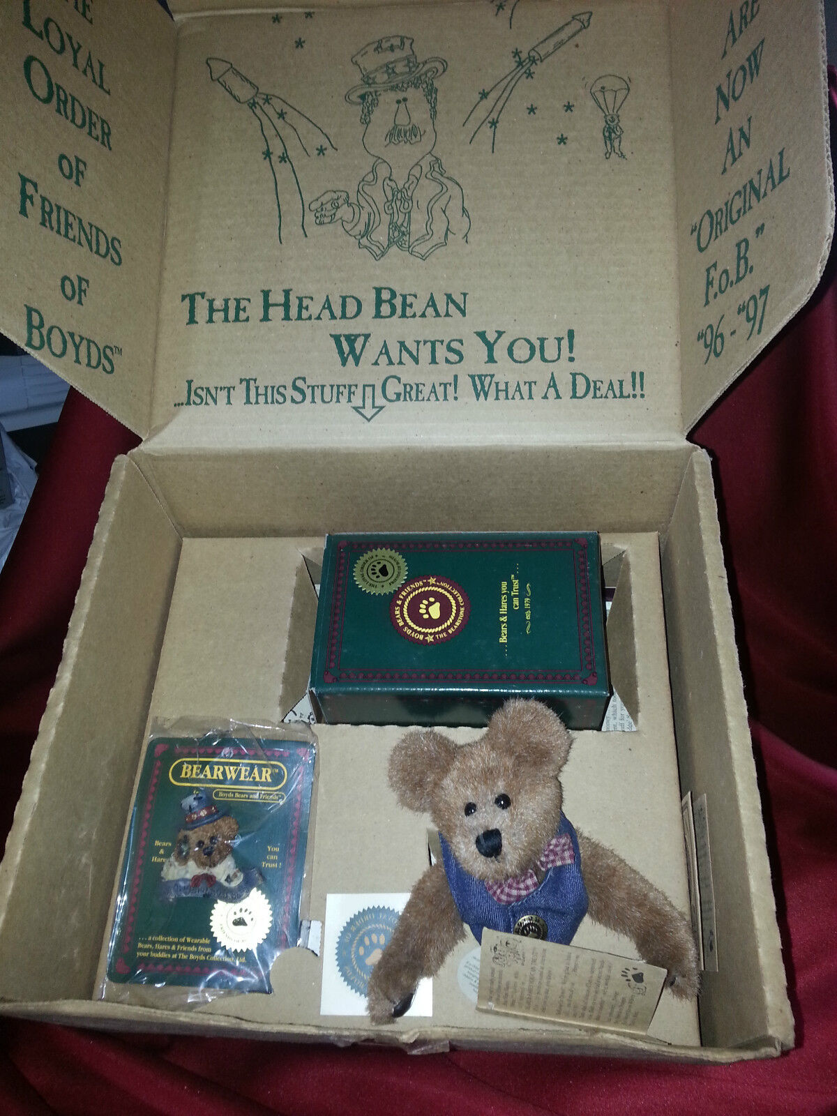 Boyd's Bears 1996 Members Only Club Kit