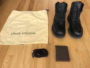 bb0a6af81b01 100% Authentic Pre Owned LOUIS VUITTON Black Boots Men s UK 8 - US 9 ...