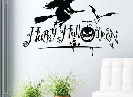 WOJOGO Halloween Glow Stickers Bats Pumpkins Ghost Spooky/ Hand Wall Decals Set 36 Pieces Removable Halloween Luminous Stickers Glow in The Dark for Halloween Home Decor