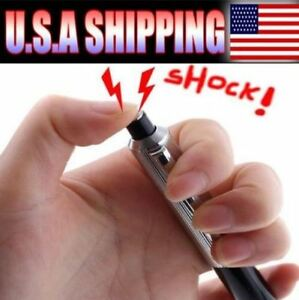 Funny Electric Shock Pen Joke Prank Trick Toy Gadget Gag Shocker  Anti-Stress Toys Gift
