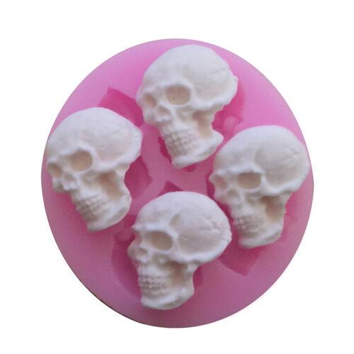 DIY Kitchen Bar Party Skull Head Silicone Cake Mold Chocolate Fondant Make Mold