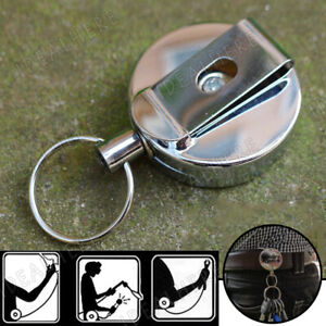 1Pcs-Retractable-stainless-Steel-Rope-Key-Chain-Recoil-Keyring-Belt-Clip-Holder