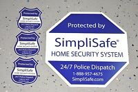 Simplisafe Security Yard Sign, Decal, Post Sticker Includes 3 Three Stickers